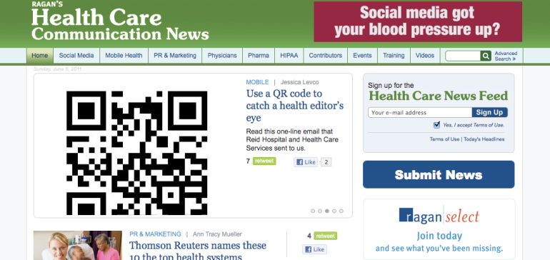 Ragan Health Care Communications News